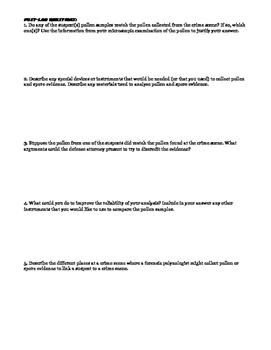 Forensic Palynology Worksheet + Lab Activity