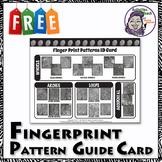 Middle School Forensics: Fingerprint Patterns Guide Card - FREE