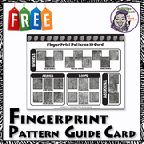 Forensic Science 101 - Fingerprint Patterns Card