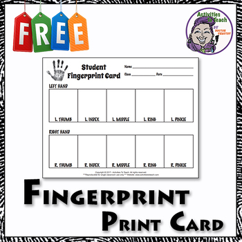graphic regarding Printable Fingerprint Cards named Free of charge Forensics Worksheets Academics Pay out Academics