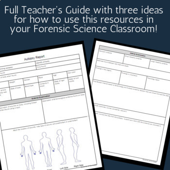 Forensic Science Autopsy Report for High School or Middle School