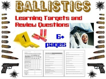 Forensic Science Ballistics Learning Targets and Review Questions