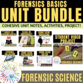 Forensic Science Basics Unit BUNDLE Distance Learning