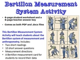 Forensic Science: Bertillon Measurement System Activity