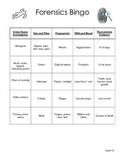 Forensic Science Bingo