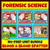 Forensic Science Blood Complete Unit Bundle - No Prep