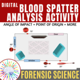 Forensic Science: Blood Spatter Analysis Activity   NO PREP!
