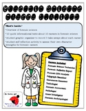 Forensic Science Career Stations Activity