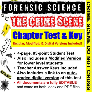 Forensic Science: Crime Scene Test and Answer Key | TpT