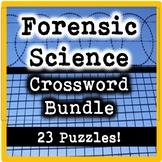Forensic Science Crossword Puzzle Bundle (23 Crosswords!)
