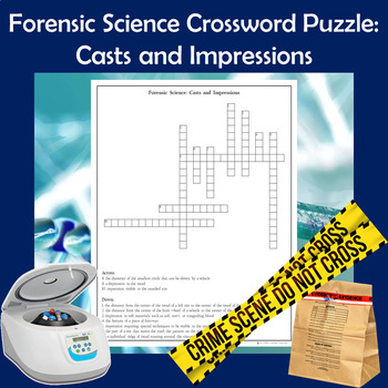 Forensic Science Crossword Puzzle Casts And Impressions Tpt