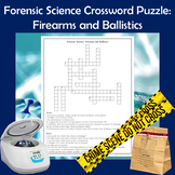 Forensic Science Crossword Puzzle - Firearms and Ballistics