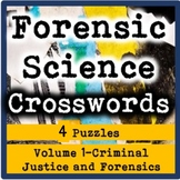 Forensic Science Crosswords Volume 1-Criminal Justice and