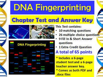 Forensic Science: DNA Fingerprinting Chapter Test