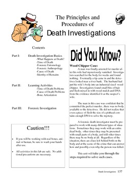 Forensic Science Death Investigation Unit