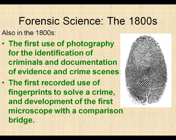 Forensic Science Early History