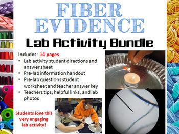 forensic science fiber evidence analysis lab activity bundle tpt. Black Bedroom Furniture Sets. Home Design Ideas