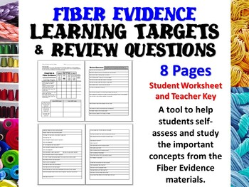 Forensic Science Fiber Evidence Learning Targets and Revie