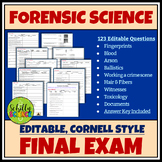 Forensics Final Exam - Forensic science final exam - with