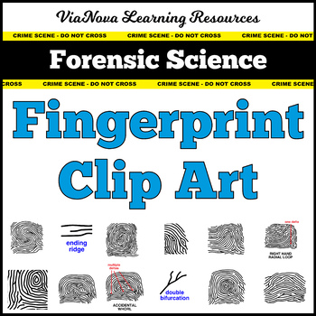 Forensic Science Fingerprint Clip Art By Vianova Learning Resources