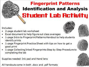 Forensic Science: Fingerprint Patterns Lab Activity