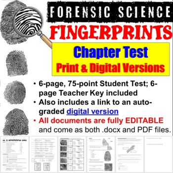 Forensic Science: Fingerprints Chapter Test