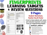 Forensic Science Fingerprints Learning Targets and Review Questions