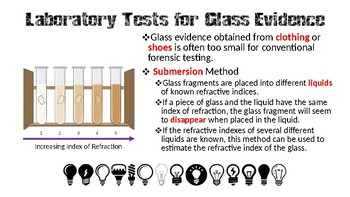 Forensic Science - Glass Evidence Notes (PowerPoint)