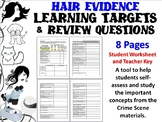 Forensic Science Hair Evidence Learning Targets and Review Questions