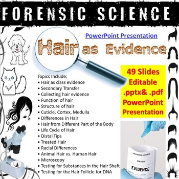 Forensic Science - Hair as Evidence PowerPoint Presentation