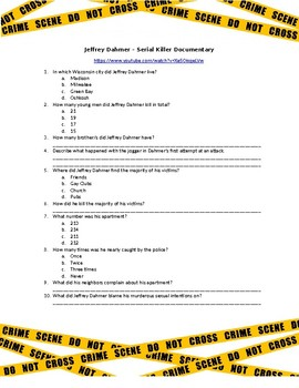 Forensic Science Jeffrey Dahmer Serial Killer Video Questions