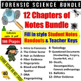 Forensic Science Lecture Notes Bundle - A Year's Worth of Lecture Material!