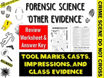 Glass Evidence In Forensic Science Worksheets Teaching Resources Tpt