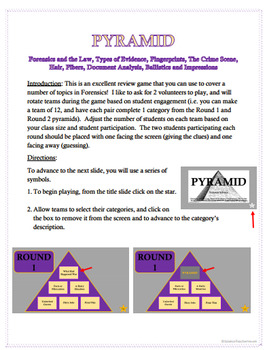 Forensic Science Pyramid Review 1 Bundle