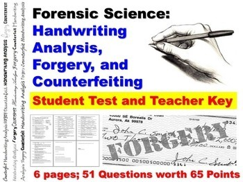 Forensic Science Questioned Documents Student Test and Tea