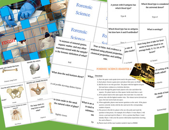 Forensic Science Semester 2 Review Board Game