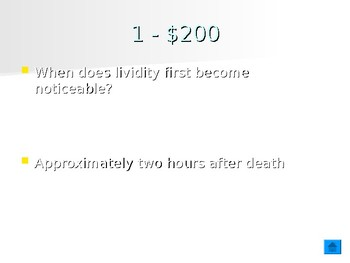 Forensic Science - Time of Death Determination Jeopardy Review