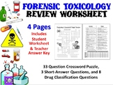 Forensic Science: Toxicology Review Worksheet