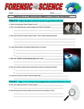 Forensic Science Webquest (3 Websites)