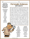 Forensic Science Worksheet - Word Search FUN