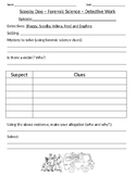 Forensic Science science worksheet Scooby Doo