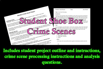 Forensic Shoe Box Crime Scene Projects