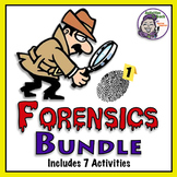 Middle School Forensics: 7 Activity Bundle (Save 20%)