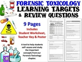 Forensic Science Toxicology Learning Targets and Review Questions