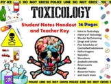 Forensic Science Toxicology Notes Handout and Key