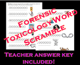 Forensic Toxicology Word Scramble