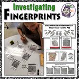 Middle School Forensics: Fingerprint Lesson, Task Cards, & Print Card