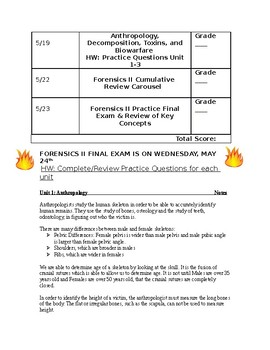 Forensics 2 Final Exam Review Packet