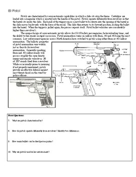 Forensics Ballistics Unit: Firearms Guided Reading