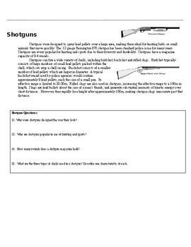Forensics Ballistics Unit: Firearms Guided Reading